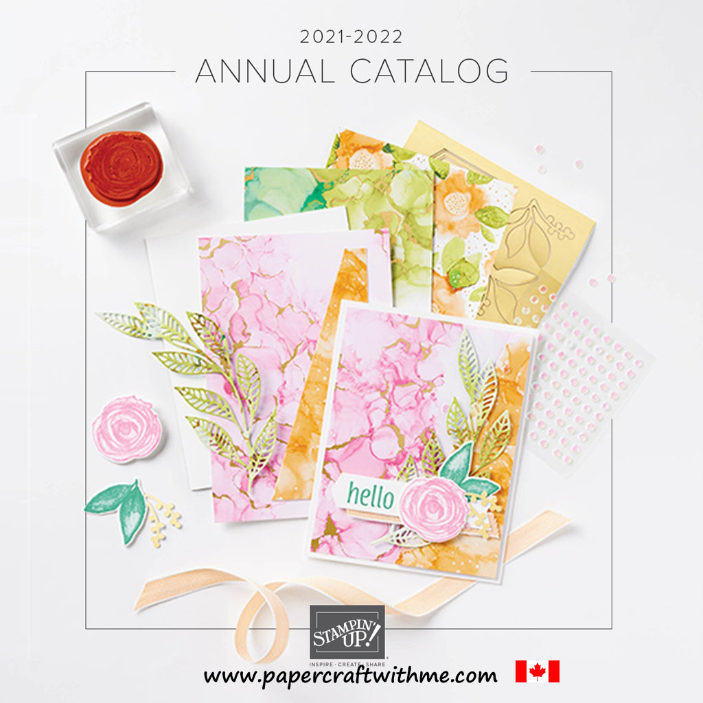 The Stampin' Up! 2021-2022 Annual Catalogue from May 4th, 2021 to May 2nd, 2022. #papercraftwithme