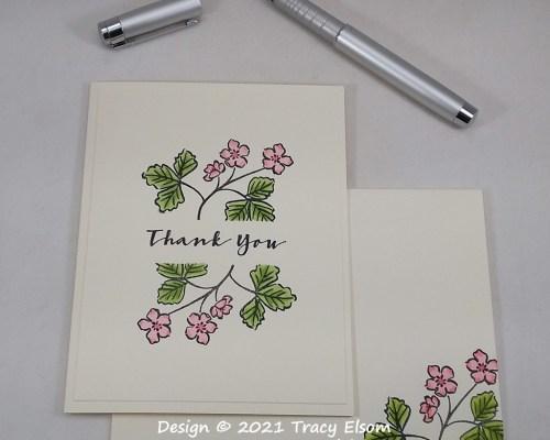 2178 Strawberry Blossom Thank You Card
