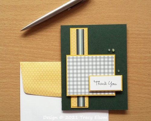 2195 Gingham Thank You Card