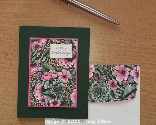 2198 Painted Floral Birthday Card