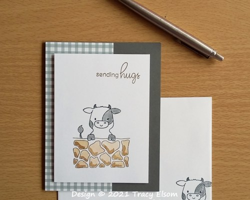 2205 Sending Hugs And A Cow Card