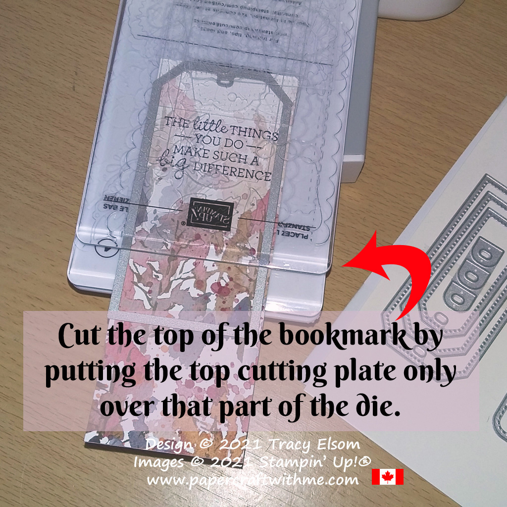Use the Tailor Made Tag Dies to make a bookmark using the partial die-cutting technique. #papercraftwithme