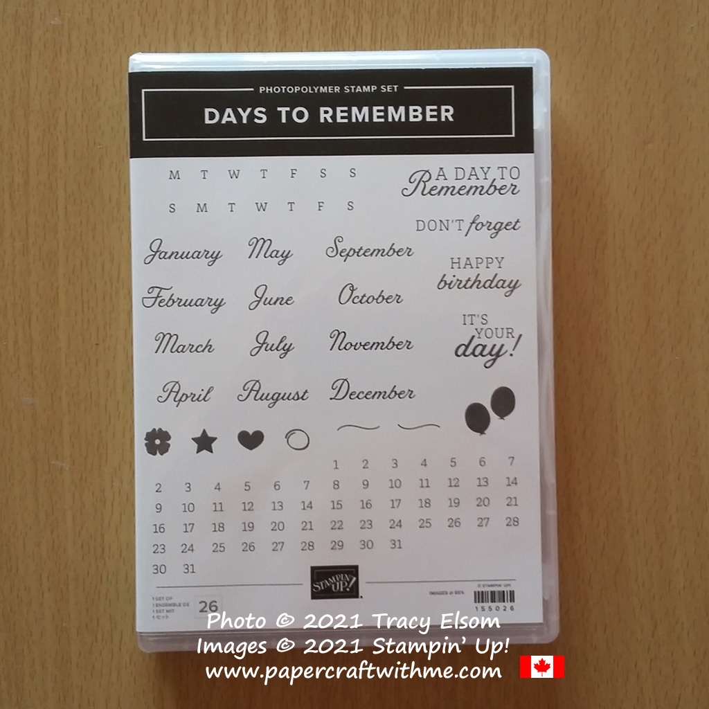 The Days To Remember Stamp Set from Stampin' Up! is perfect for scrapbooking and cardmaking. #papercraftwithme