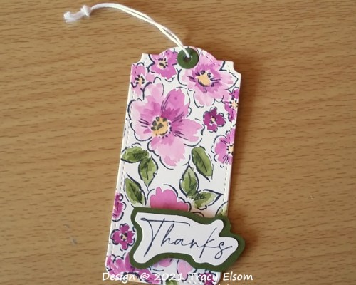 Hand-Penned Thanks Gift Tag