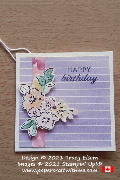 Simple birthday gift tag created using the Days To Remember Stamp Set and Hand-Penned paper from Stampin' Up! #papercraftwithme