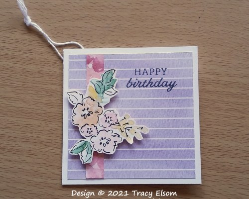 Happy Birthday Hand-Penned Gift Tag