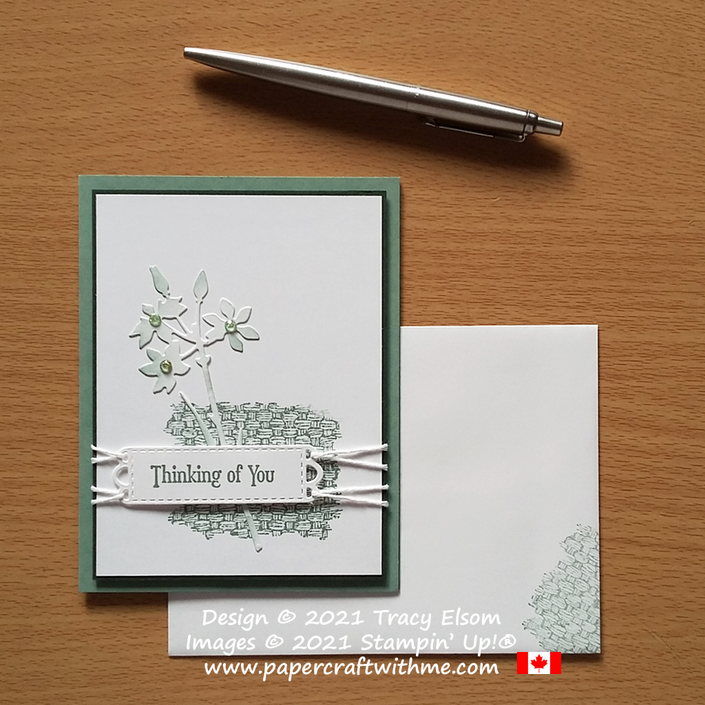 """""""Thinking of you"""" card created using the Quiet Meadow and Natural Textures (Host) Stamp Sets and Meadow Dies, all from Stampin' Up! #papercraftwithme"""