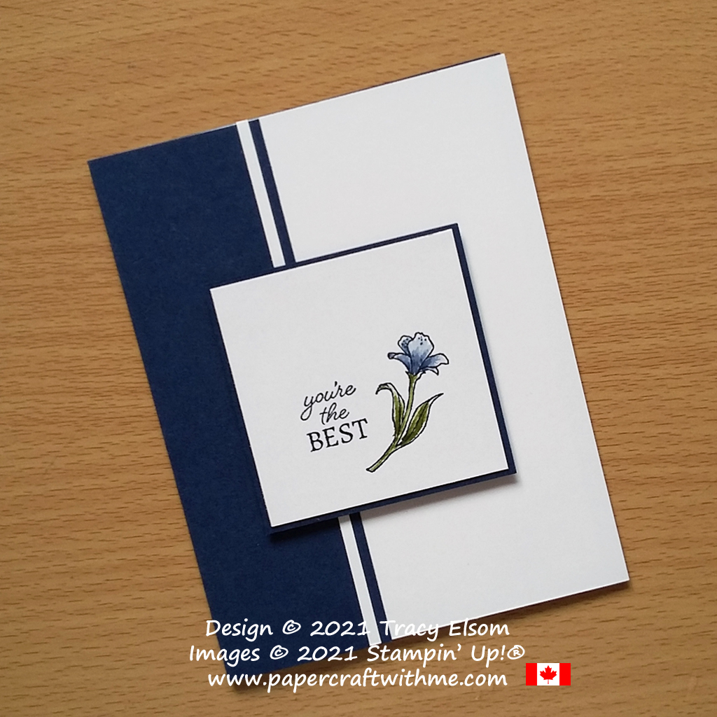 """Clean and simple """"You're the best"""" card created using the Encircled in Friendship Stamp Set from Stampin' Up! #simplestamping #papercraftwithme"""