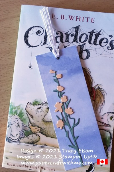 Summer bookmark created using the Beauty Of The Earth DSP paper and Meadow Dies from Stampin' Up! #papercraftwithme