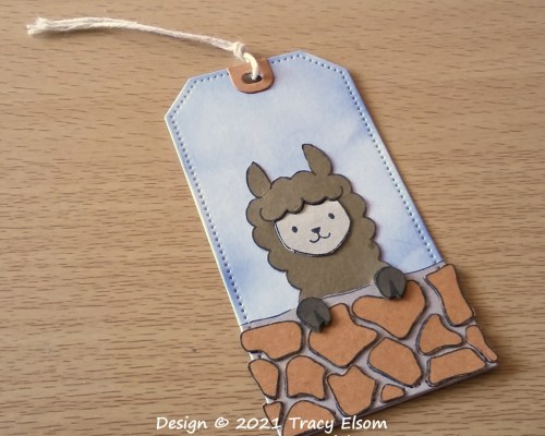 Peekaboo Llama Gift Tag