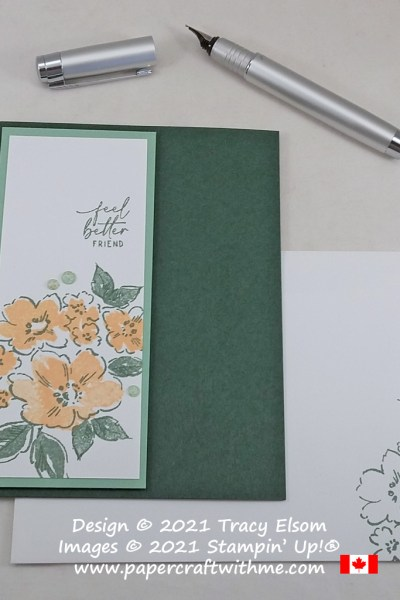 """""""Feel better friend"""" card created using the Hand-Penned Petals Stamp Set from Stampin' Up! #simplestamping #papercraftwithme"""