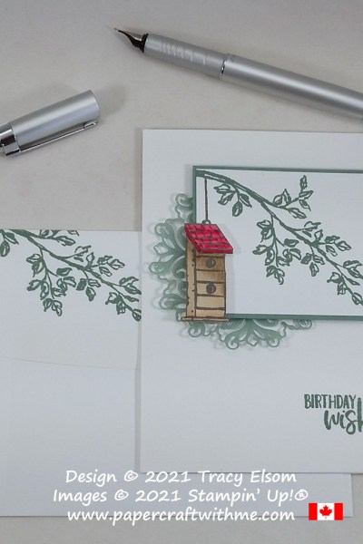 Birthday card created using the Garden Birdhouses Stamp Set and Encircled in Beauty Dies from Stampin Up! #papercraftwithme