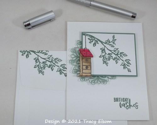 2239 Birdhouse Birthday Wishes Card