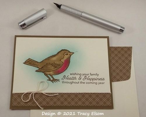 2256 Robin Health & Happiness Card