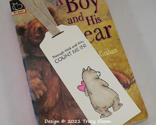 BM356 Count Me In Bear Bookmark
