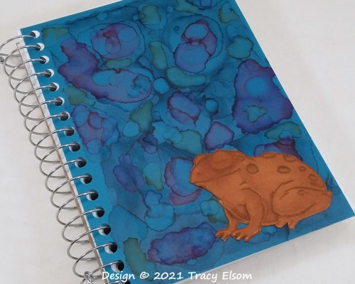 P170 Psychedelic Frog Notebook