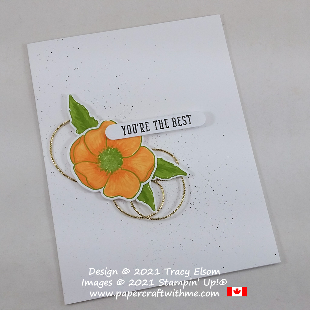 """""""You're the best"""" card with California poppy image created using the Painted Poppies and Many Happenings Stamp Sets from Stampin' Up! #papercraftwithme"""