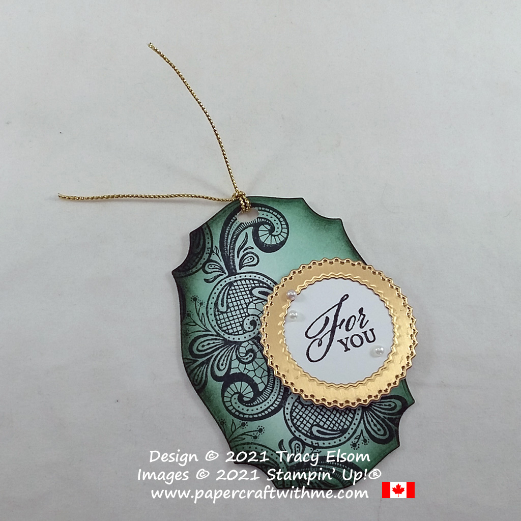 """""""For you"""" gift tag created using the Elegantly Said Stamp Set and Tasteful Labels Dies from Stampin' Up! #papercraftwithme"""