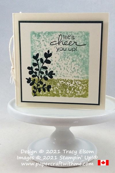 """""""Let's cheer you up"""" with this simple folded gift tag created using the Lovely You Stamp Set from Stampin' Up! #papercraftwithme"""