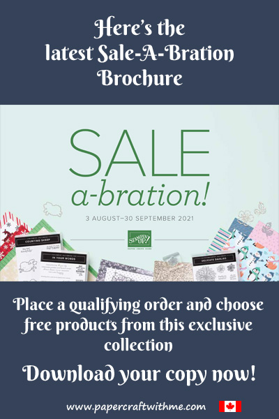 Get free products from Stampin' Up! during August and September with a qualifying order.  Download the SAle-A-Bration Brochure now.