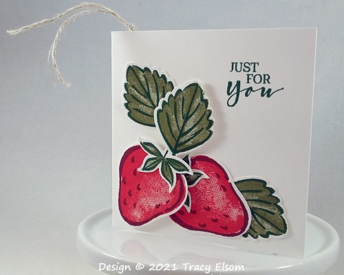 Strawberry Just For You Gift Tag