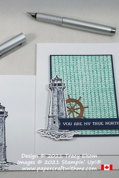 """""""You are my true north"""" card created using the Knit Together and Sailing Home Stamp Sets with Smooth Sailing Dies, all from Stampin' Up! #papercraftwithme"""