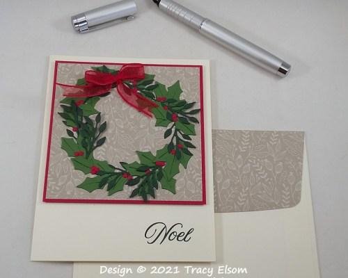 2285  Noel Christmas Wreath Card
