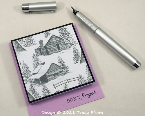 P175 Peaceful Cabin Post-It Notes