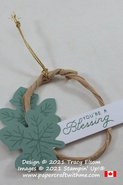 """""""You're a blessing"""" ornament / tag created using the September 2021 Paper Pumpkin kit """"Haunts & Harvest"""" from Stampin' Up! #papercraftwithme"""