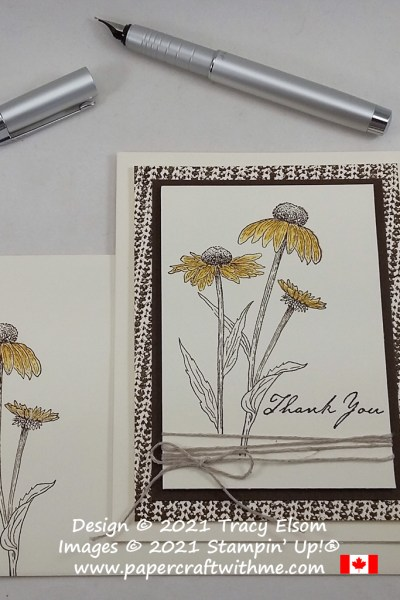 Simple thank you card created using the Nature's Harvest and Knit Together Stamp Sets from Stampin' Up! #papercraftwithme