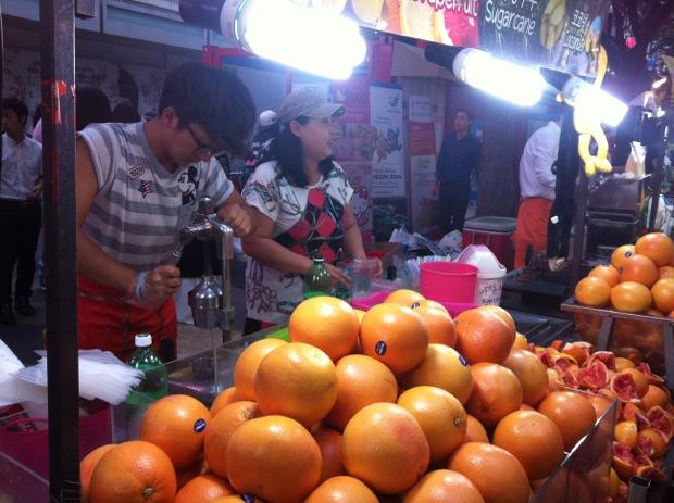 Juice stand, Seoul