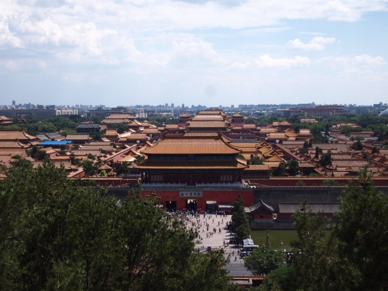Forbidden City from Jinshang Park, Beijing