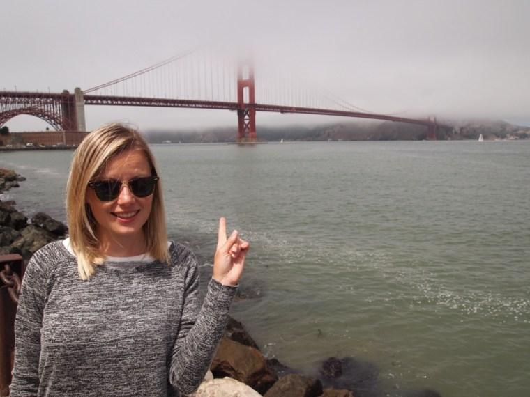 Foggy Golden gate Bridge, SF- Joella
