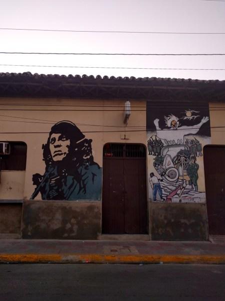 Leon Sandinista revolution Murals