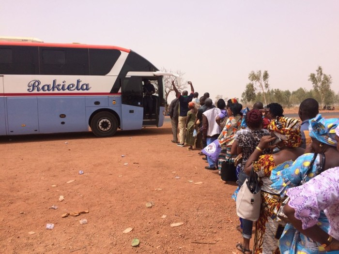 Bus Trabsport travelling Burkina Faso