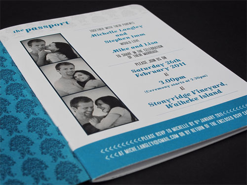 passport wedding program template - teal passport wedding invitations paper crave
