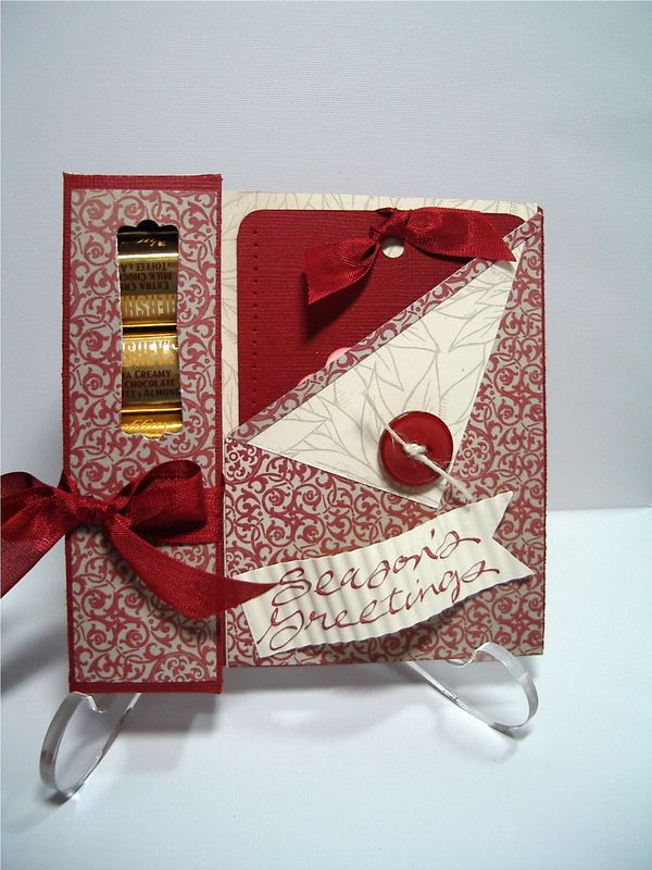 Yummy Treat Box Card Using Stampin Up Holiday Mini