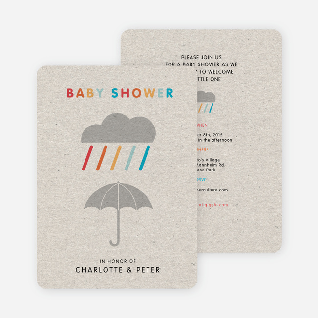 Colorful Shower Baby Invitations