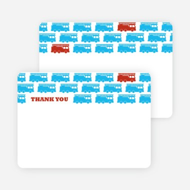 Lil firefighter truck custom invitation, 5 x 7 inch, 1 count. Thank You Card For Red Fire Truck Modern Birthday Invitations Paper Culture