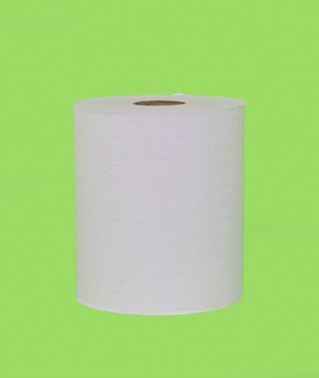 800W WHITE HARDWOUND ROLL TOWEL (6/case)