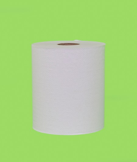 800W WHITE HARDWOUND ROLL TOWEL (6/case)