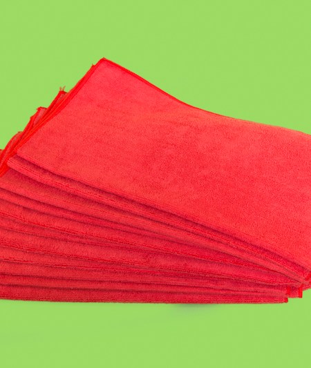 Microfiber Terry Cloths - Red (15/case)