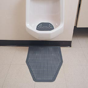 Disposable Urinal Floor Mat - Green Apple Scent (6/cs)