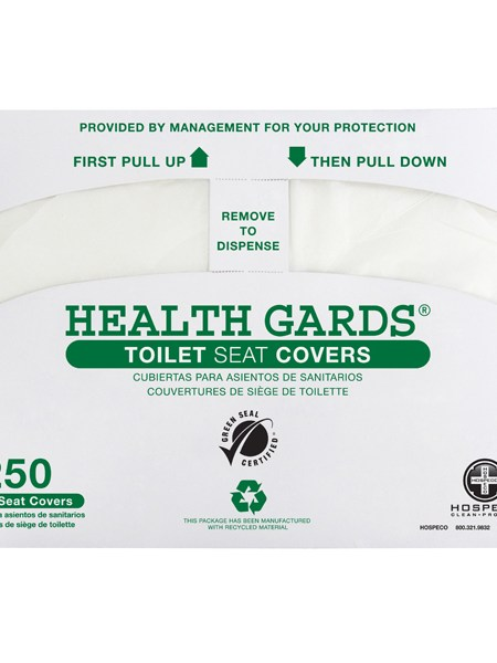 Health Gards Green 1/2 Fold Seat Covers (5000/case)