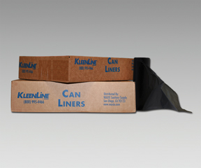 "40x46"" HDPE Black Liners, natural, 1.3 mil (100/case)"