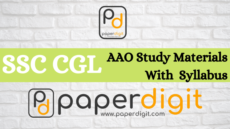 SSC CGL AAO Study Materials & Syllabus