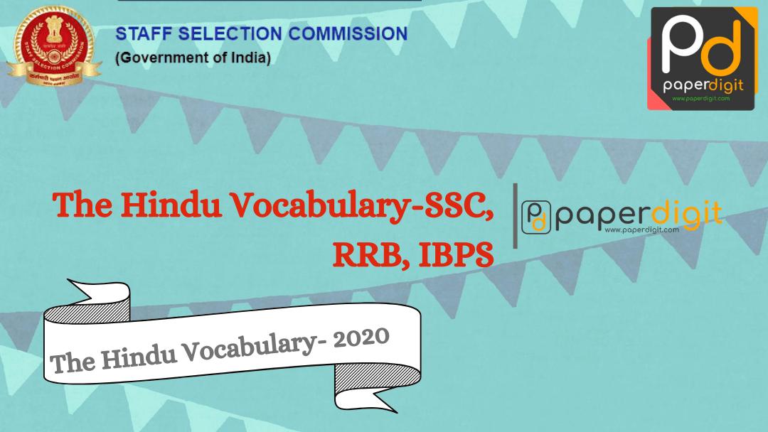 The Hindu Vocabulary-SSC, RRB, IBPS