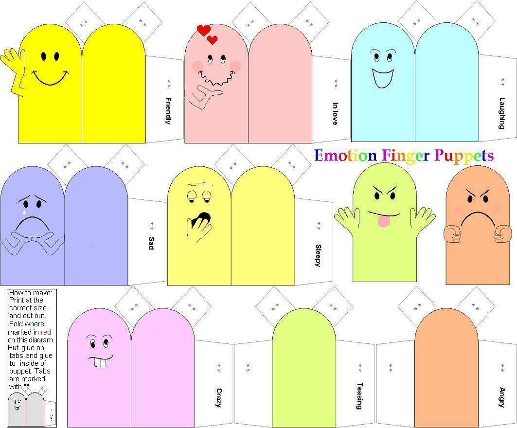 Family Members Finger Puppets Printables