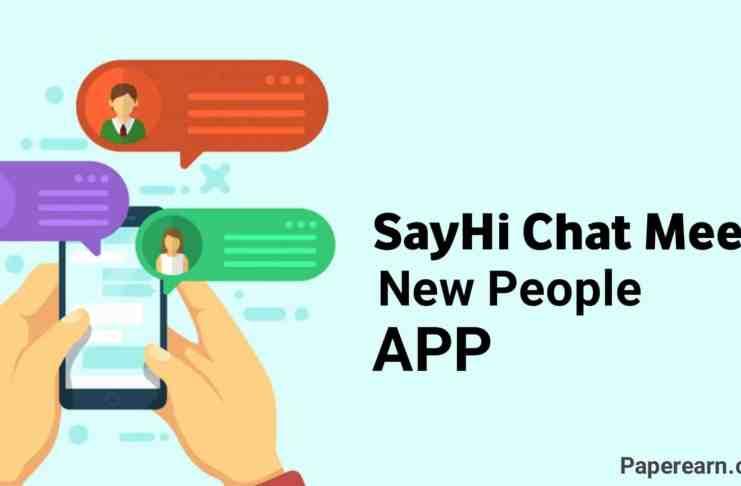 SayHi Chat Meet New People App.