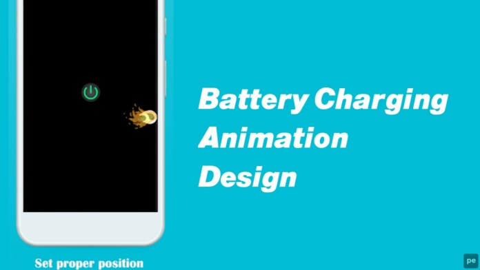Battery Charging Animation Design Chargie App.